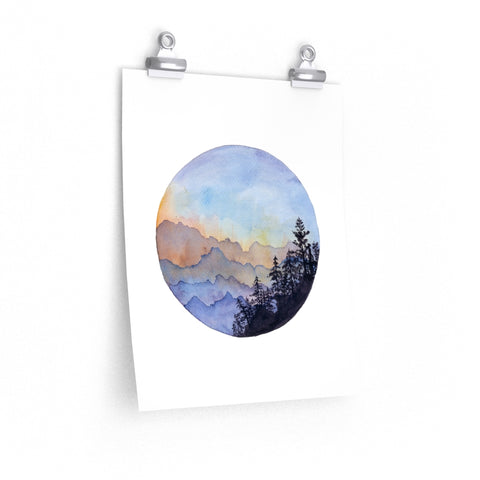 Cariboo Mountains - Print - caroartco
