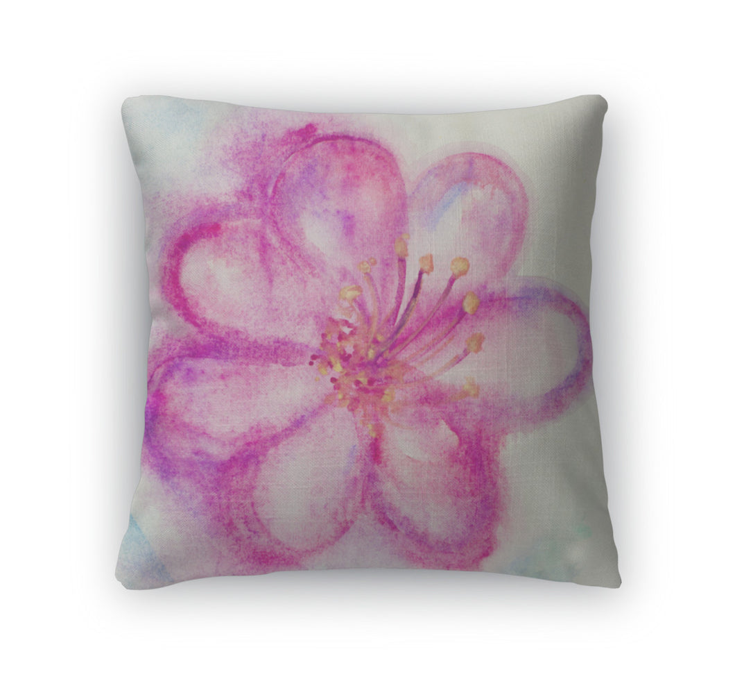 Throw Pillow, Pink Flower