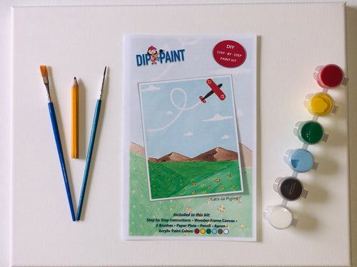 Airplane - Let's Go Flying - Paint Kit