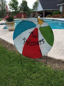 "20"" Beach ball door hanger or yard stake"