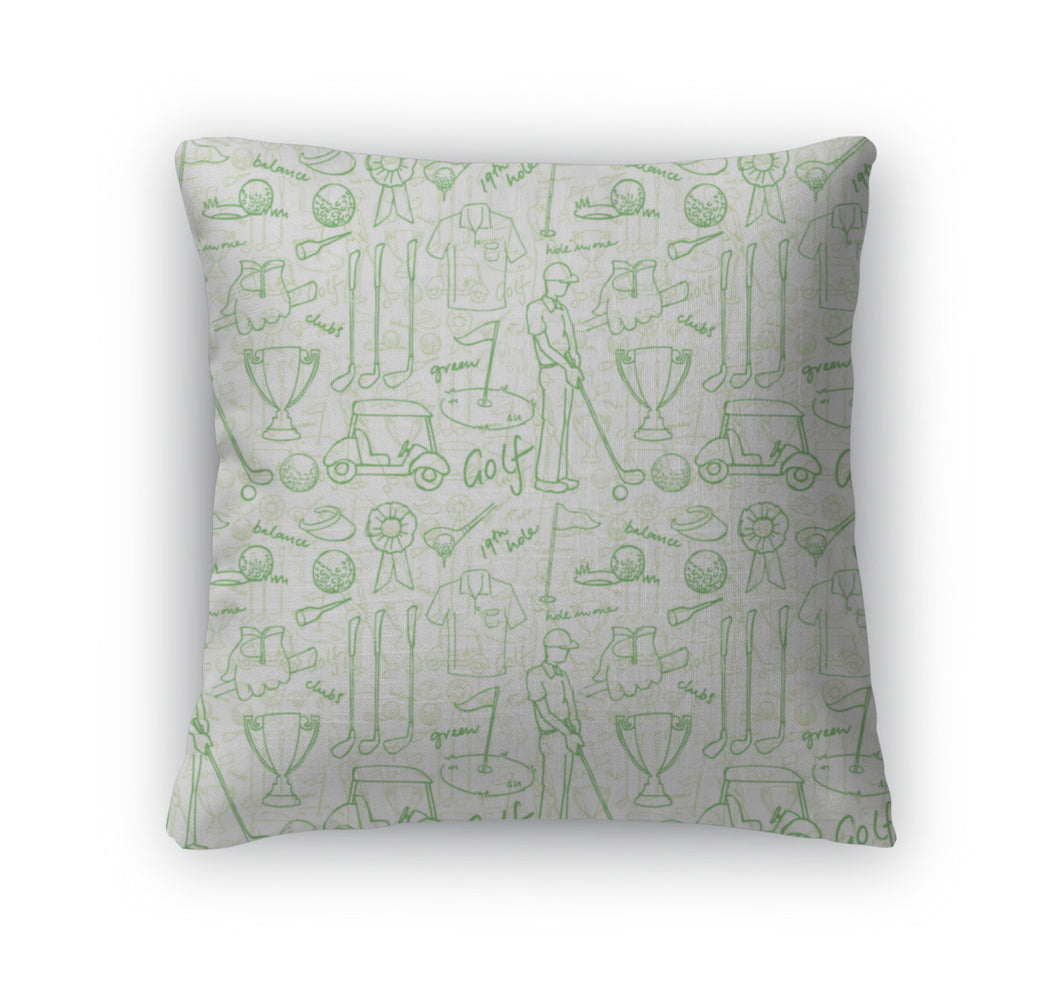 Throw Pillow, Golf Pattern
