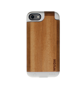 Ultra-Slim White Wooden iPhone 7, & iPhone 8 Charging Battery Case (Limited Edition)