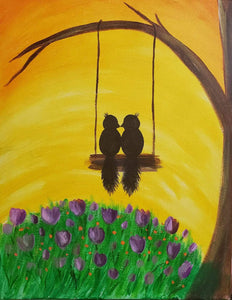 Birds On A Swing - Paint Kit