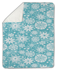 Blanket, Decorative Snowflake Frost