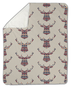 Blanket, Ethnic pattern with deer