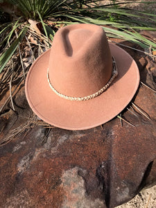 """The Westlake"" Hat in Sunset Burnt Orange"