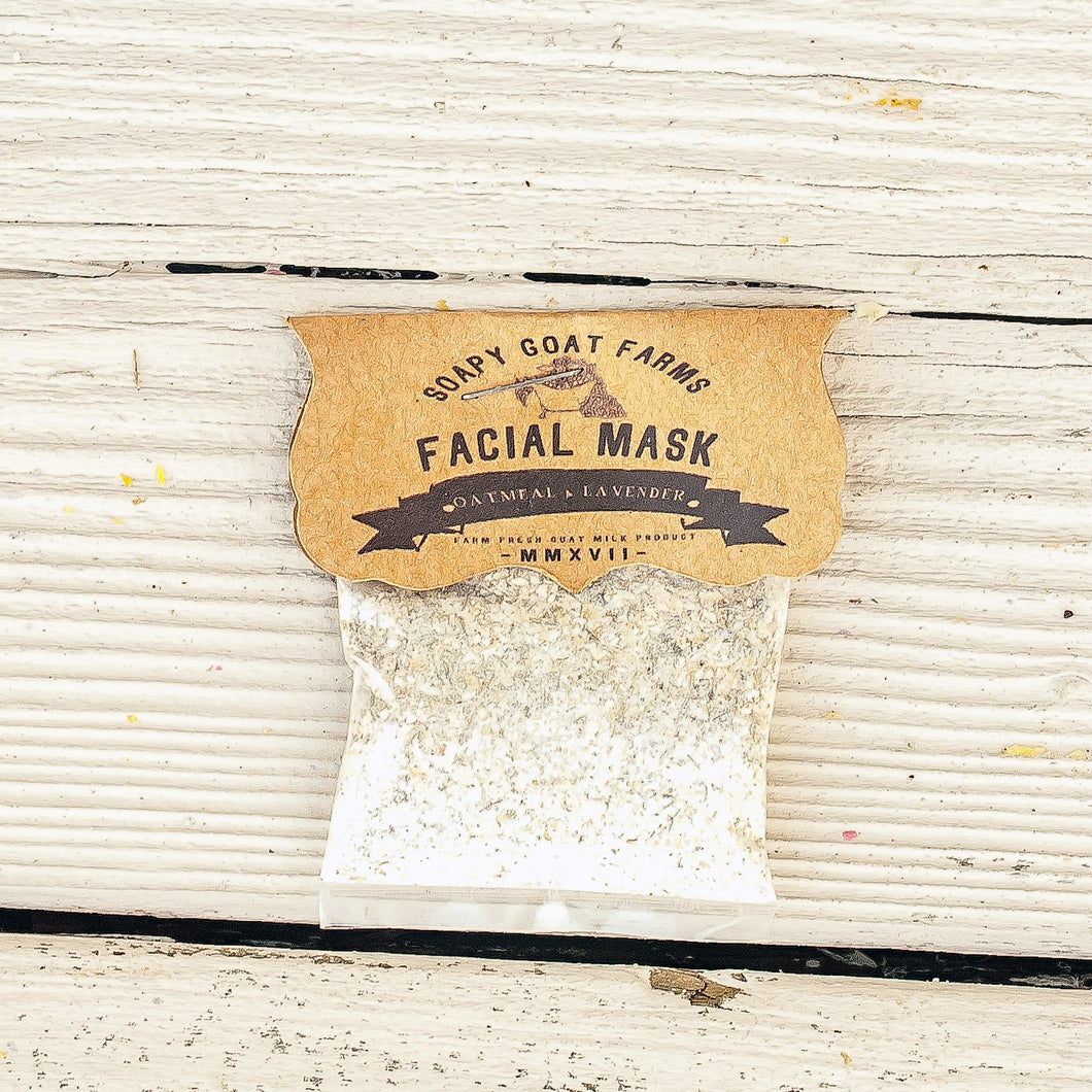 Goat's Milk Face Mask- Oatmeal & Lavender - 3 Pack