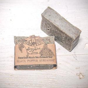 Artisan Goat's Milk Soap- Black Pepper Bergamot - 3 Pack