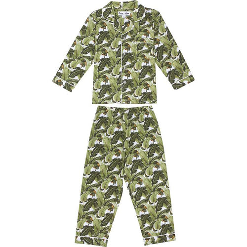 Kids Banana Leaf Shirt + PJ Pant Set