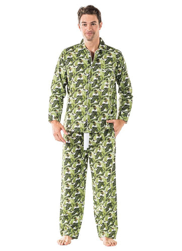 Men's Banana Leaf Shirt + PJ Pant Set