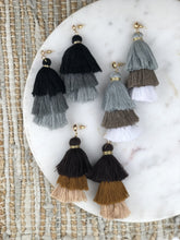 Gwen Three Tier Tassel Earrings