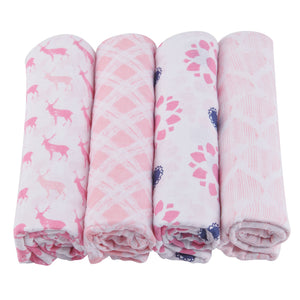 Pop Of Pink Swaddle Four Pack