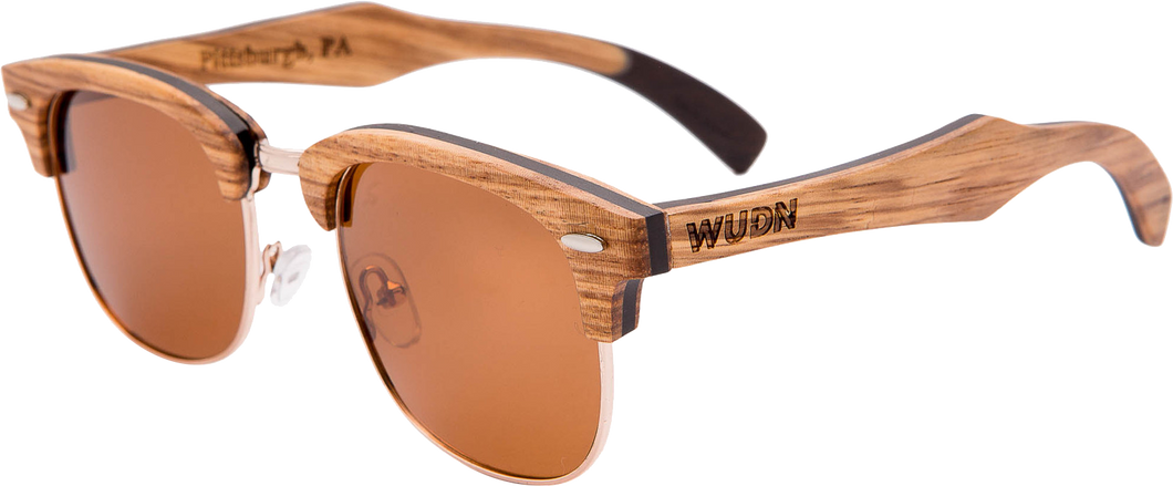 Men's & Women's Zebra 1/2 Wood, RetroShade Sunglasses