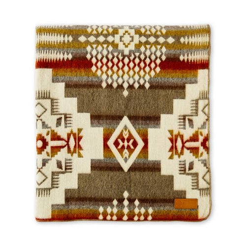 Tan Andes Cruz Large Southwestern Blanket