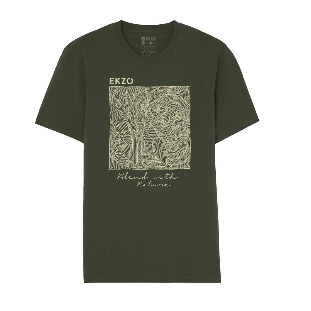 Blend with Nature T-shirt Vintage Green