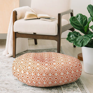 Abstract Orange Design Floor Pillow