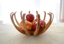 Blossom Fruit Bowl in natural wood