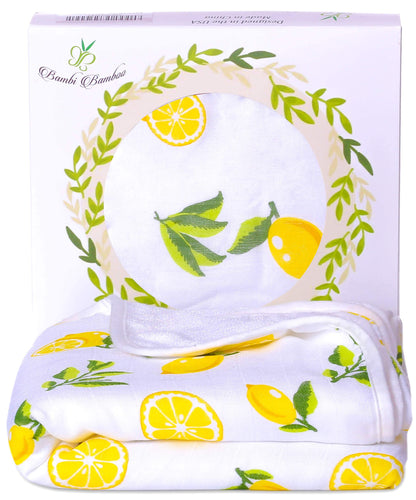 Bamboo Baby Hooded Towel Lemon