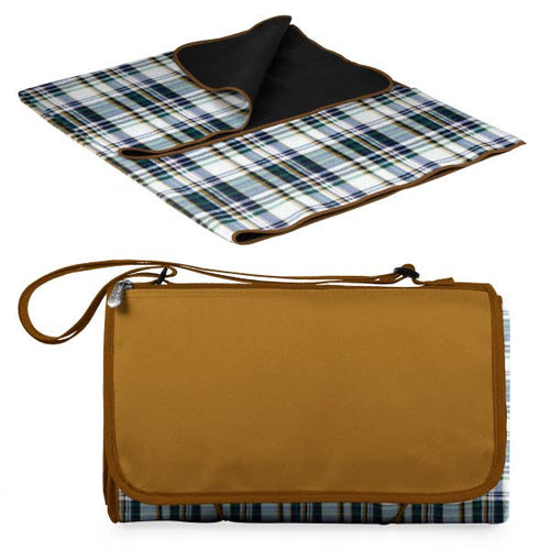 Blanket Tote Outdoor Picnic Blanket-English Plaid
