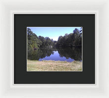 Cattail Lake - Framed Print