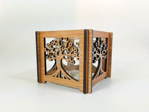Tree of Life Hurricane Votive Holder