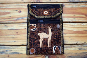 Embroidered Alpaca Travel Purse