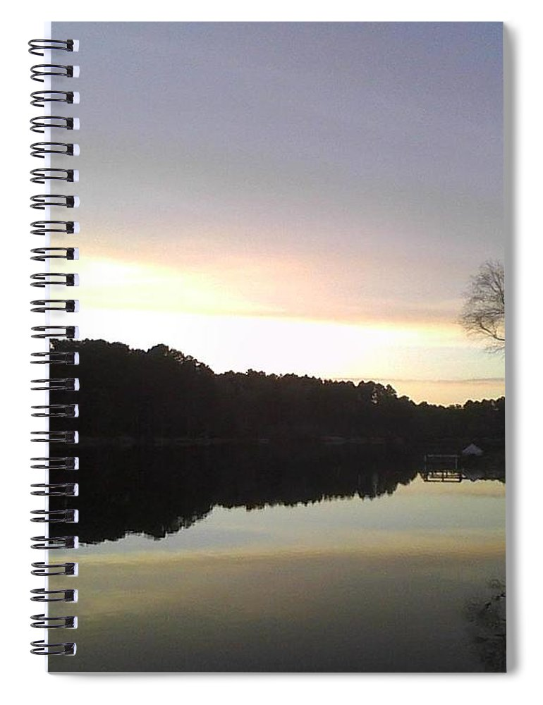 Evening At Lake - Spiral Notebook