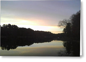 Evening At Lake - Greeting Card