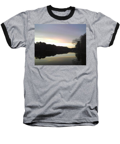 Evening At Lake - Baseball T-Shirt