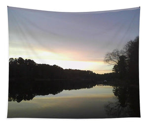 Evening At Lake - Tapestry
