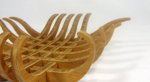 Vessel Fruit Bowl in bamboo