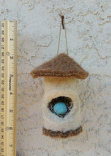 Heartfelt Alpaca Felt Bird House Ornament