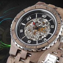 Men's Premium Self-Winding Transparent Body Walnut Wood Watches