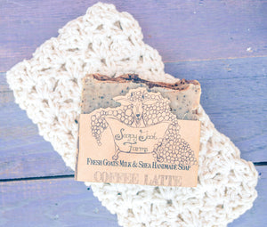 Artisan Goat's Milk Soap- Coffee Latte - 3 Pack