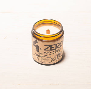4.ZERO Hardwood Wick Amber Jar Candle- Natural Collection - 3 Pack