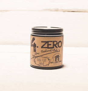 4.ZERO Hardwood Wick Amber Jar Candle- Nature Inspired Fruits and Spices Collection