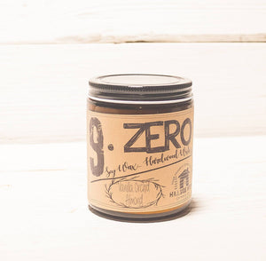 9.ZERO Hardwood Wick Amber Jar Candle- Nature Inspired Fruits and Spices Collection
