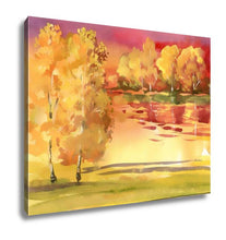 Gallery Wrapped Canvas, Watercolor Autumn Landscape Collection
