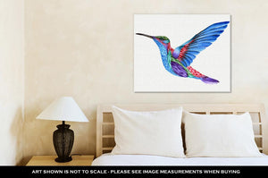 Gallery Wrapped Canvas, Hummingbird Watercolor Painting