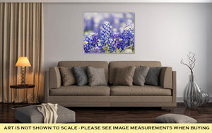 Gallery Wrapped Canvas, Austin Texas Wildflower Closeup Bluebonnets In Spring
