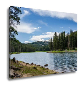 Gallery Wrapped Canvas Mountain Lake