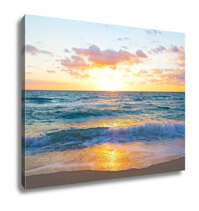 Gallery Wrapped Canvas, Sunrise Over Ocean
