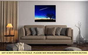 Gallery Wrapped Canvas, A Shooting Star Going Across The Starry Night