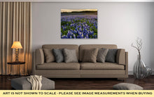 Gallery Wrapped Canvas, Beautiful Bluebonnets Field At Sunset Near Austin Texas