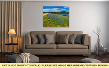 Gallery Wrapped Canvas, View Of Famous Texas Bluebonnet Wildflowers On The Colorado River