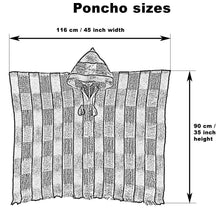 Incan Grays Alpaca Poncho