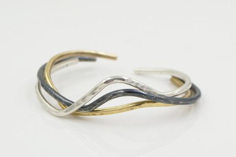 Sterling Silver and Gold-Filled Bracelet Trio
