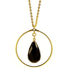 FLORA NECKLACE - BLACK QUARTZ