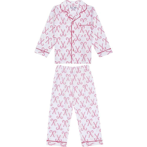Kids Candy Cane Shirt + PJ Pant Set