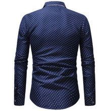Mens Dotted Button Up